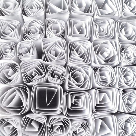 abstract: Paperwork, shape,, patterns, geometric, white, background, abstract, black and white.