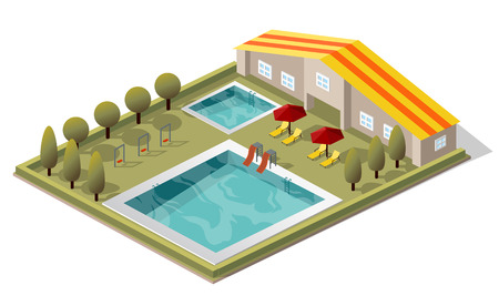 Vector Isometric Swimming Pool