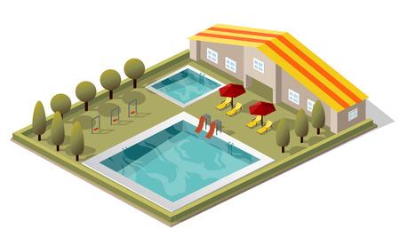 Vector Isometric Swimming Pool