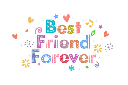 best friend: Best Friend Forever text for card design