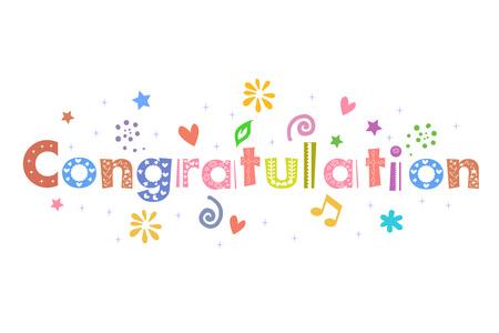 Congratulation Text Message for card design