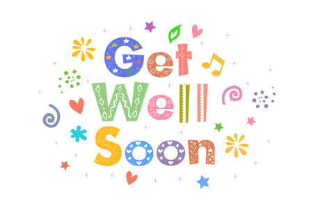 get well: Get Well Soon Message for card design