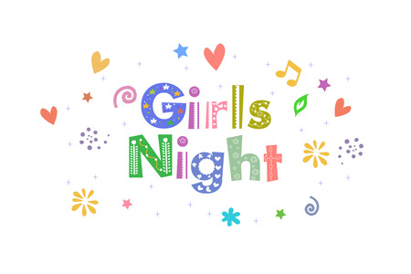 sleepover: Girls Night Message for card design