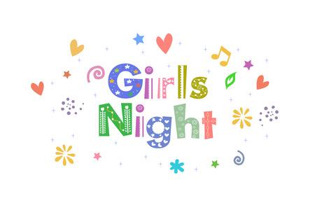 pijamada: Mensaje muchachas de la noche para el dise�o de tarjetas