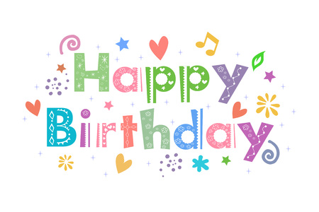 decorative design: Happy Birthday Message for card design