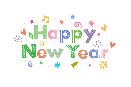 Happy New Year for greeting card design