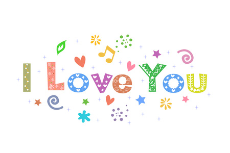 I Love You Message for card design Ilustracja
