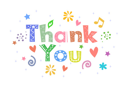 Thank You Message for card design