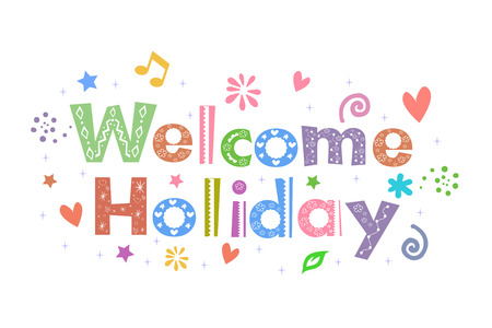 Welcome Holiday Message for card design Иллюстрация