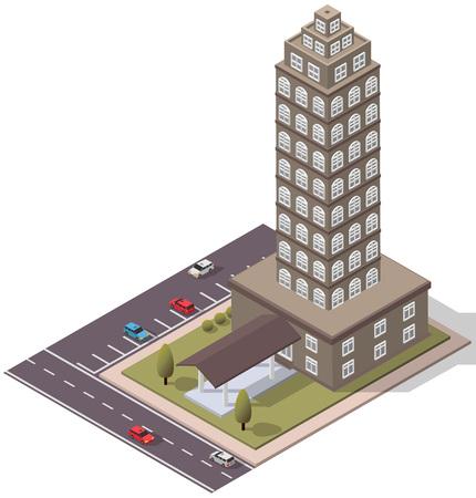 Vector Isometric Flats Duplex for map