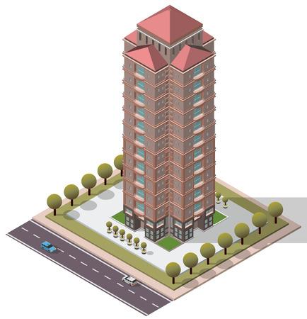 Vector isometrische Wohnungen Wohnung für Karte Standard-Bild - 47555703