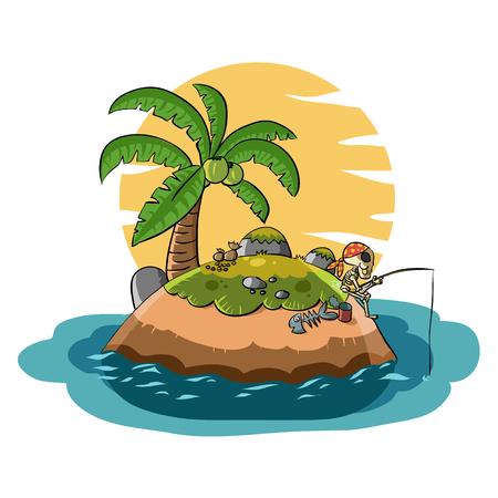 Skeleton Island Pirates Cartoon