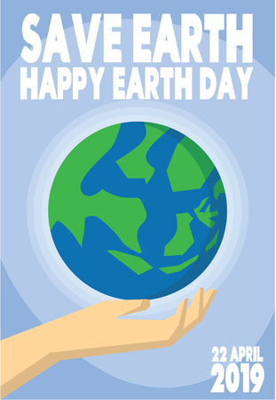 happy earth day greeting card 22 april