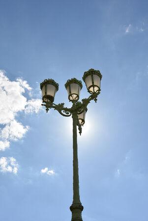 streetlight: Streetlight over blue sky