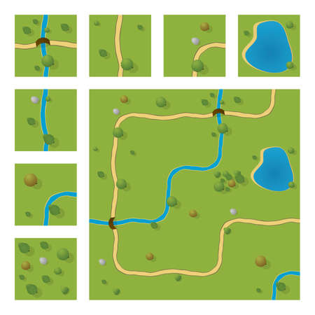 country roads: map segmets