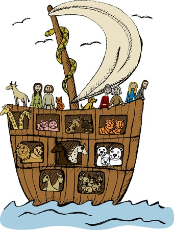 noah: Illustration of Noahs ark