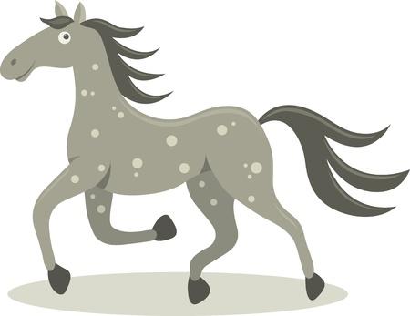 running horse: Vector illustration of running horse