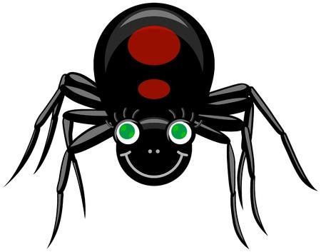 Ilustración vectorial de la viuda de negro Ilustración de vector