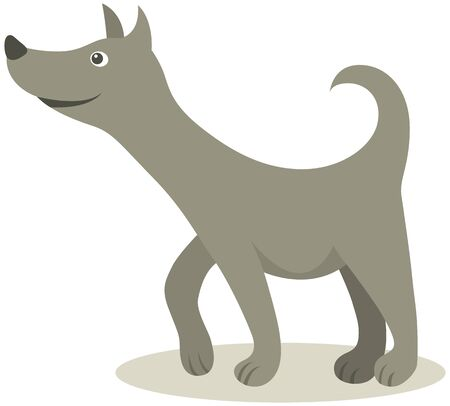 sniffing: Vector illustration of sniffing dog Illustration