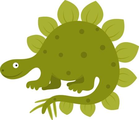 stegosaurus: Ilustración vectorial de gracioso estegosaurio