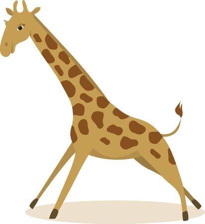 Vector illustration of running giraffe Stock Vector - 12078477