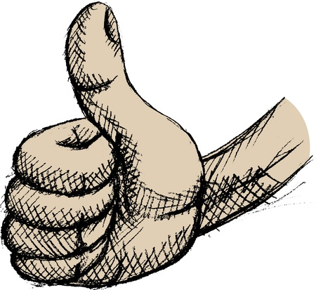 sign ok: Vector illustration of thumb up