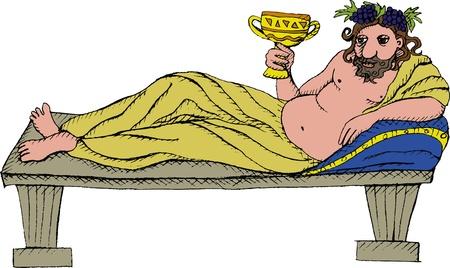 greek god: Ilustraci�n vectorial de dios griego Dionisio
