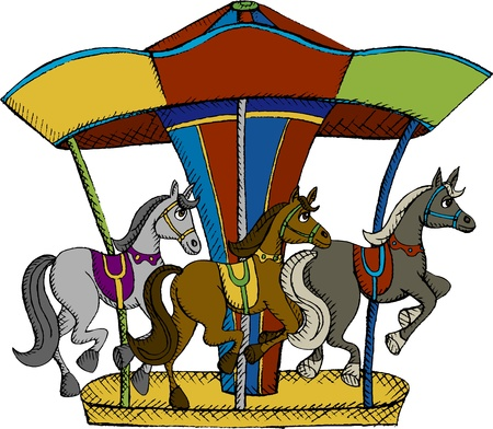 carousel: Vector illustration fo horse carousel Illustration