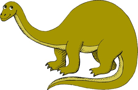 Vector illustration of Brontosaurus (Apatosaurus) Illustration