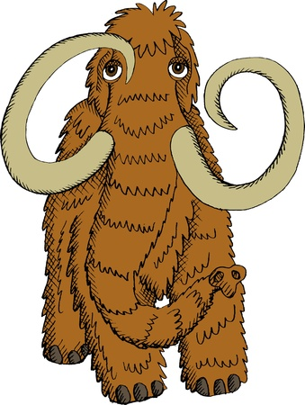 mammoth: Vector illustration of Mammoth from front