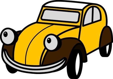 funny car: Vector illustration of stylized Citroen 2CV Illustration