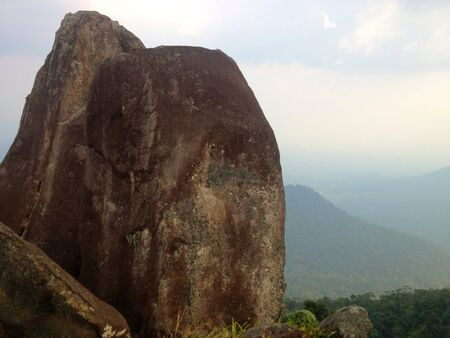 Rock on the top of the mountain Thailand