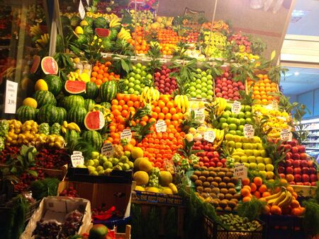 Fruits and vesgetable shop in Turkey Stock Photo