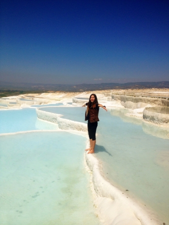 Woman in Pamukkale Turkey