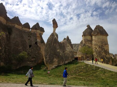 hist: Traveling place in Cappadocia Turkey  Stock Photo