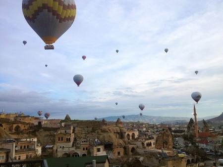 Balloons in Cappadocia turkey