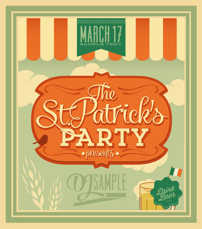 st paddy s day: St Patrick s day - poster
