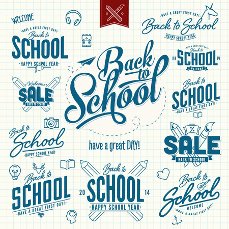 Back to School Stickers And Elements