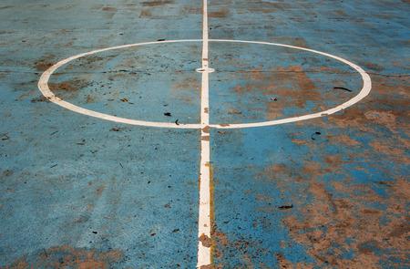 center court: center futsal court Stock Photo
