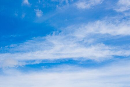 empty blue sky and white cloud Imagens