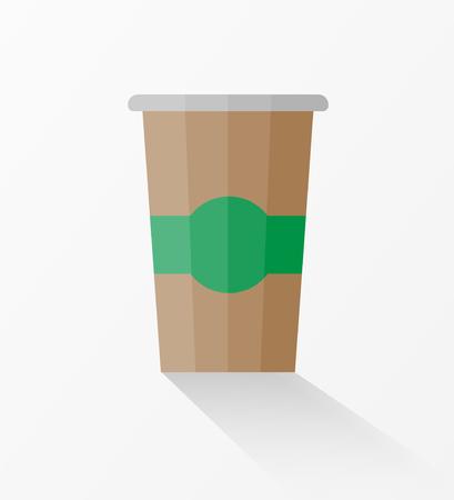 Paper coffee cup icon vector illustration Ilustração
