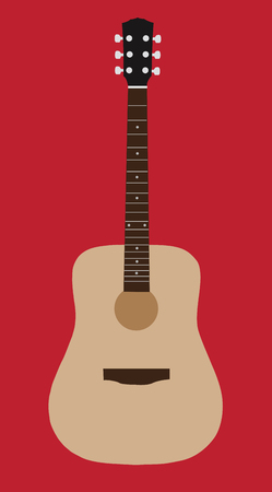 Acoustic guitar flat design