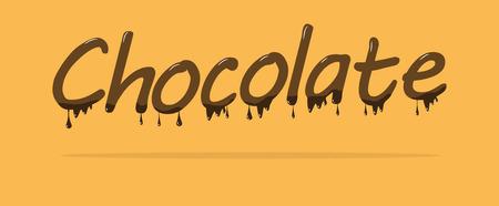 Chocolate melt text