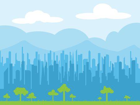 Cityscape skyline vector illustration