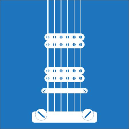 Electric Guitar flat design Ilustração