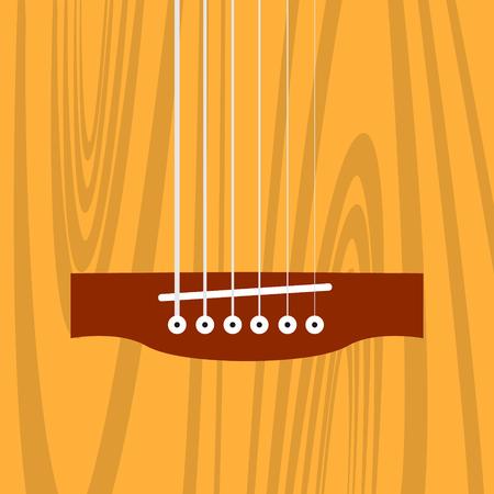 acoustic guitar bridge Ilustração