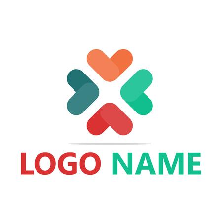 Logo flat design template