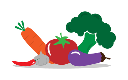 Group of vegetable flat design