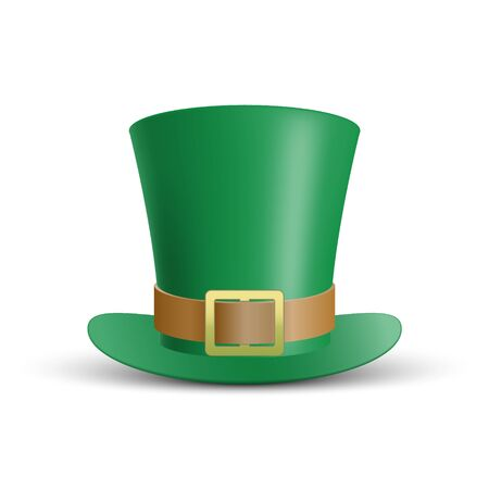 Green St. Patrick's Day hat isolated on white background, vector illustration