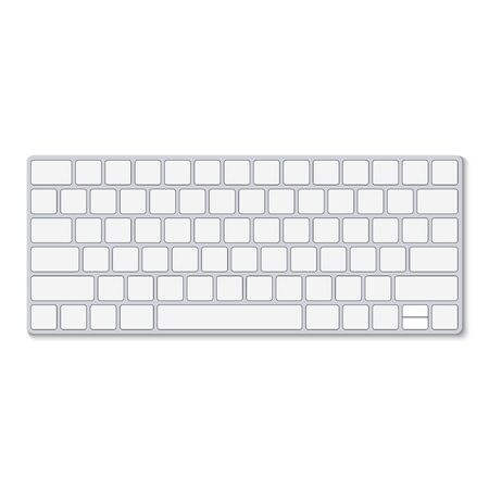 Top view of keyboard Isolated on white background, vector illustration Vettoriali